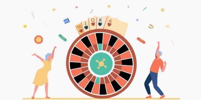 Man And Woman Winning Casino Rewards