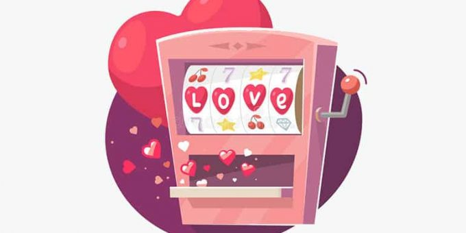 Valentine's Day Themed Slot Machine